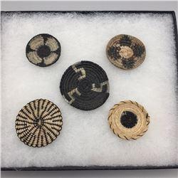 Tohono O'odham Horse Hair Baskets Display
