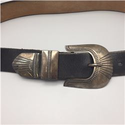 3 Piece Sterling Buckle Set with Belt