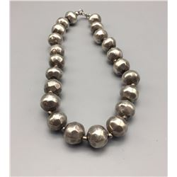 Unique Sterling Silver Bead Necklace