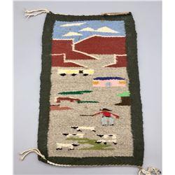 Mini Pictorial Navajo Textile