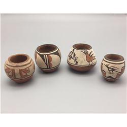 Group of 4 Mini Zia Pots