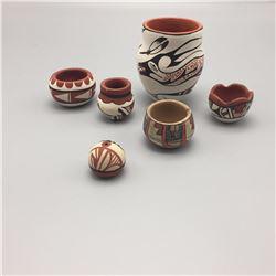 Group of 6 Jemez Pots