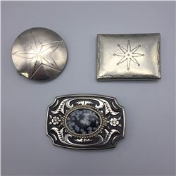 3 Western Style Buckles