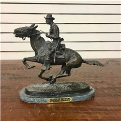 After Remington Bronze - Trooper of the Plains