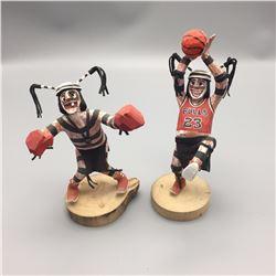 Pair of Koshare Clowns