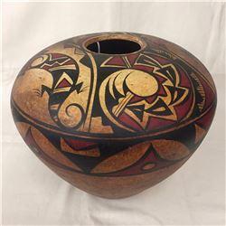 Hand Painted Pot - R. Galvan