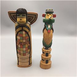 Pair of Pueblo Kachinas