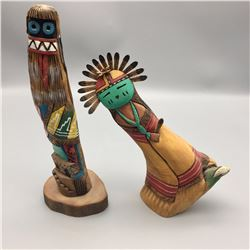 Pair of Hopi Kachinas