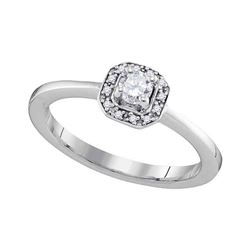 0.25 CTW Diamond Solitaire Bridal Engagement Ring 10KT White Gold - REF-32N9F