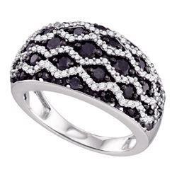 1.2 CTW Black Color Diamond Ring 10KT White Gold - REF-70W4K