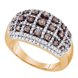 0.96 CTW Brown Color Diamond Fashion Ring 10KT Rose Gold - REF-75F2N