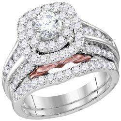 2.01 CTW Diamond Bellissimo Bridal Engagement Ring 14KT White Gold - REF-337F5N