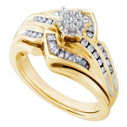 0.42 CTW Diamond Bridal Wedding Engagement Ring 10KT Yellow Gold - REF-67K4W