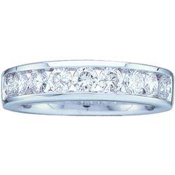0.50 CTW Diamond Wedding Ring 14KT White Gold - REF-52H4M