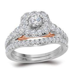 1 CTW Natural Blue Sapphire Bridal Wedding Engagement Ring 14KT White Gold - REF-112W5K