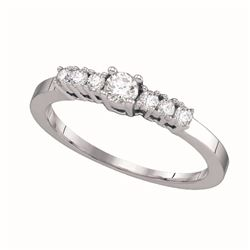 0.33 CTW Diamond Bridal Wedding Engagement Ring 14KT White Gold - REF-34M4H