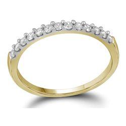 0.25 CTW Diamond Wedding Anniversary Ring 14KT Yellow Gold - REF-22W4K