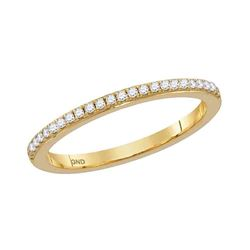 0.14 CTW Diamond Single Row Stackable Ring 10KT Yellow Gold - REF-18F2N