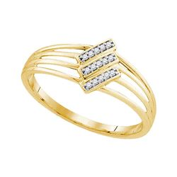 0.05 CTW Diamond Ring 10KT Yellow Gold - REF-10F5N