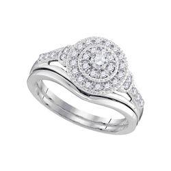 0.33 CTW Diamond Bridal Wedding Engagement Ring 10KT White Gold - REF-49Y5X