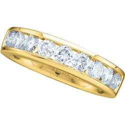 0.50 CTW Diamond Wedding Ring 14KT Yellow Gold - REF-55Y5X