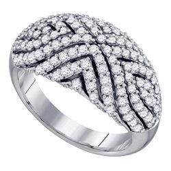 1.09 CTW Diamond Fashion Ring 10KT White Gold - REF-86Y8X