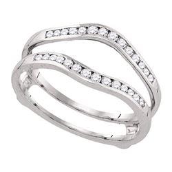 0.25 CTW Diamond Ring 14KT White Gold - REF-33K7W