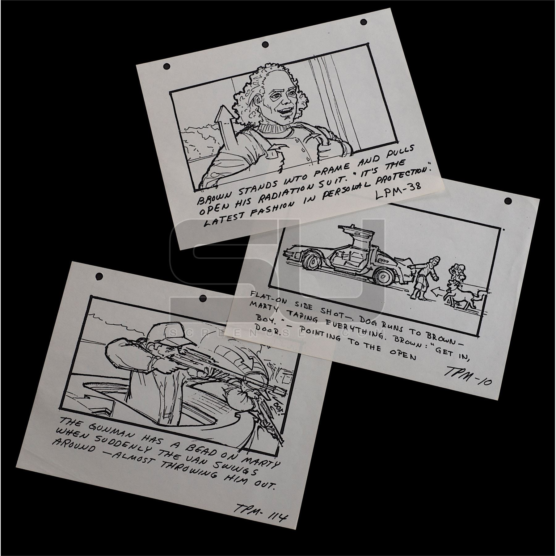 5d666f1d3 Image 1   Back To The Future - Set of Twin Lone Pine Mall Storyboards ...