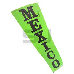 """Wheel of Fortune (TV) - """"Mexico"""" Wheel Wedge Autographed by Vanna White"""