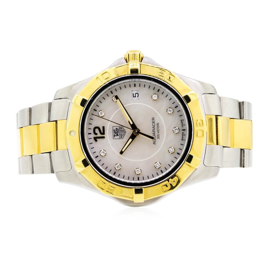 9f4ee8920f40e Image 1 : Stainless Steel and Gold Plated Men's Tag Heuer Aquaracer  Wristwatch ...