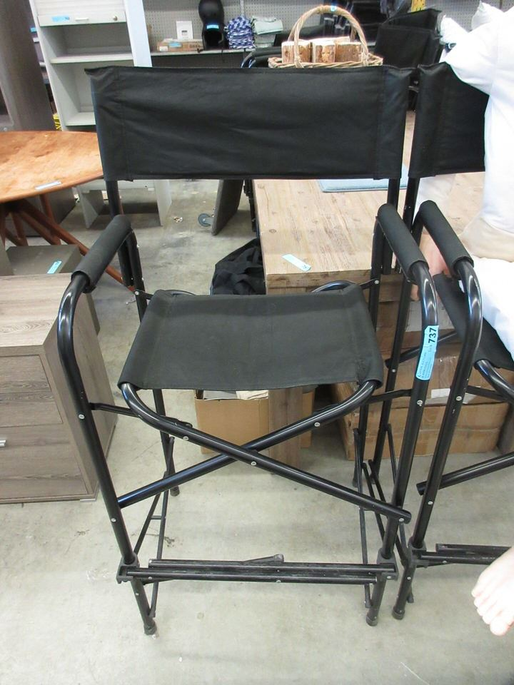 Groovy Large Bar Height Folding Directors Chair Onthecornerstone Fun Painted Chair Ideas Images Onthecornerstoneorg