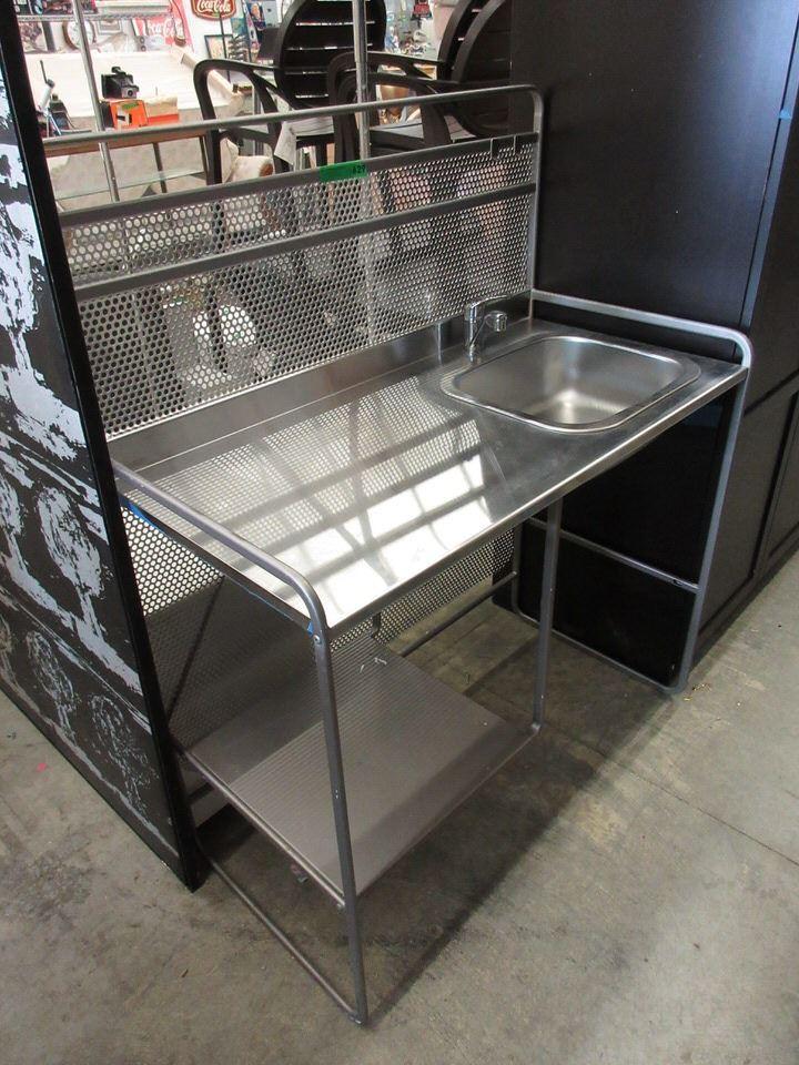 One Piece Metal Kitchen Sink Cabinet