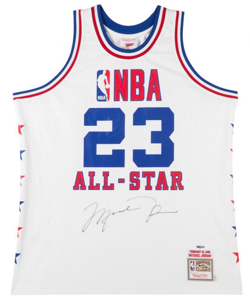 huge discount 80c8f 81e47 Michael Jordan Signed 1985 NBA All Star Authentic Mitchell ...