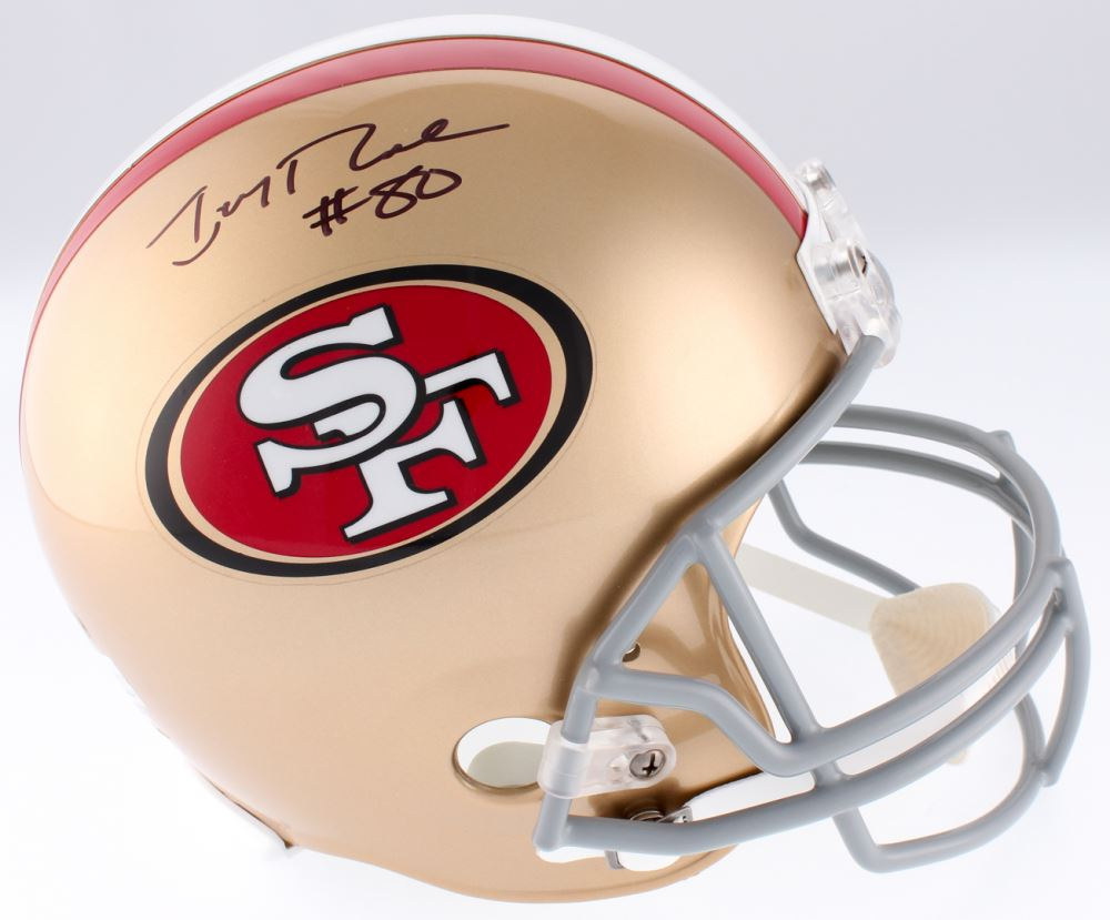 882647572 Image 1   Jerry Rice Signed 49ers Full Size Helmet (Rice Hologram)