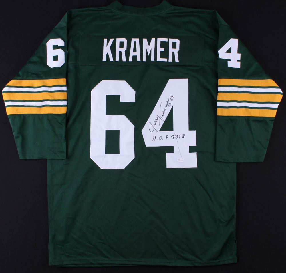 5826015d69b2f Image 1 : Jerry Kramer Signed Packers Jersey Inscribed