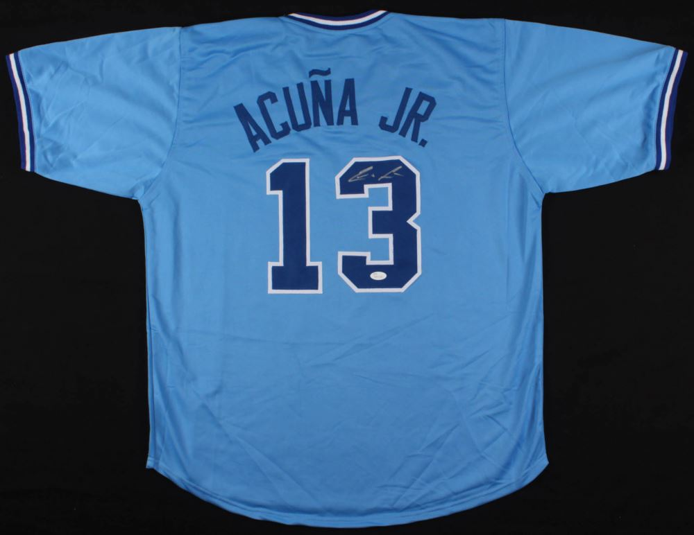 reputable site 03a90 9c2c4 Ronald Acuna Jr. Signed Braves Jersey (JSA COA)