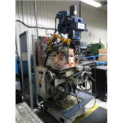 Horizontal/Vertical Milling Machine with Variable Speed, Feed on 3 axes, Electric Drawbar, extra str