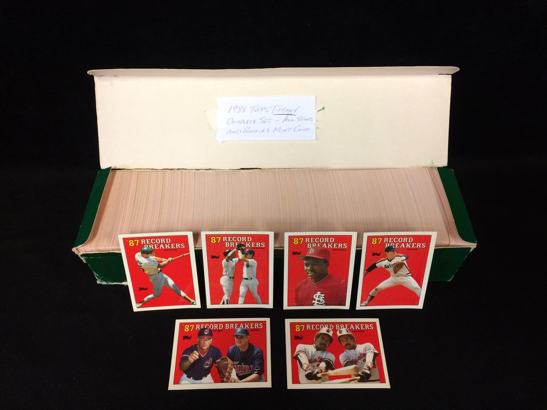 1988 Topps Tiffany Baseball Cards Complete Set All Stars Rookies Mint Condition