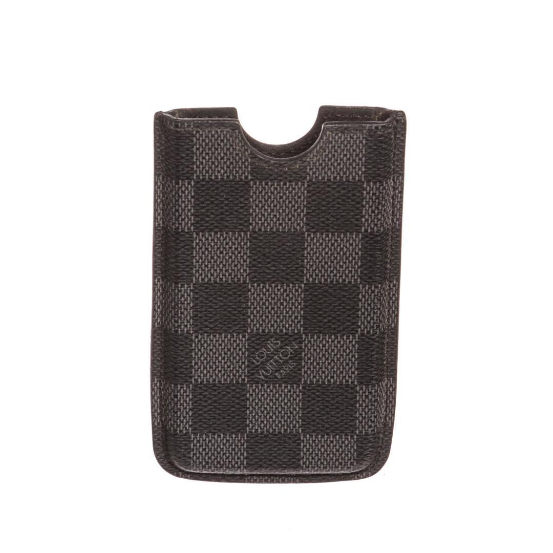 best service 09c22 675e7 Louis Vuitton Damier Graphite Canvas Leather Iphone 3 Case