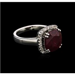 5.16 ctw Ruby and Diamond Ring - 14KT White Gold