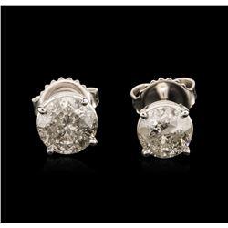14KT White Gold 1.83 ctw Diamond Stud Earrings
