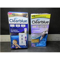 2 Clearblue Ovulation Test System / 27 test strips & 2 digital testers