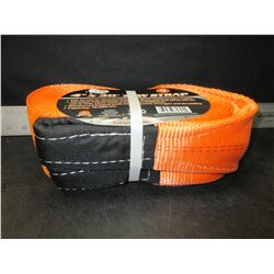 New 4 inch x 30 foot 9 ton / 18,000lb Tow Strap / will not rot or tear