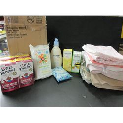Huge New Bundle of BABY Items / case of baby wipes / towels,blankets