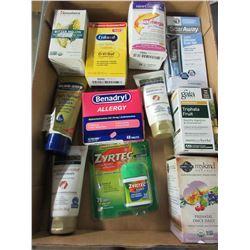 Flat full of NEW Supplements / Allergy / skin creams etc./ huge value