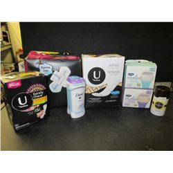 Large bundle of Women's Personal Products / Dove/ Kotex / Schick