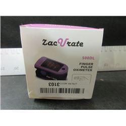 New ZacVrate 500dl Finger Pulse Oximeter / LED display