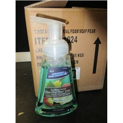 New Case of 12 Antibacterial Foaming Pump Hand Soap / 7.5 fl oz/PEAR