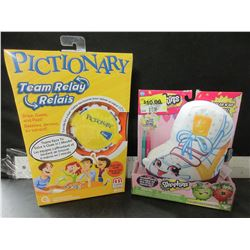 Pictionary Game & Shopkins coloring fun