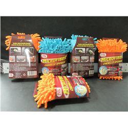 Lot of 5 New Microfiber Chenille Sponge / 90,000 fibers per sq. inch